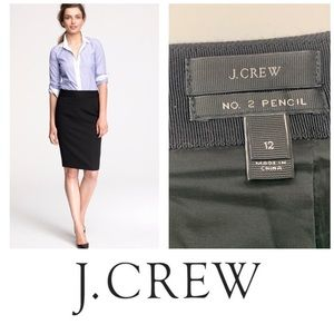 J. Crew No. 2 Wool Pencil ✏️ Skirt